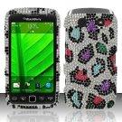 Hard Rhinestone Design Case for Blackberry Torch 9850/9860 - Colorful Leopard