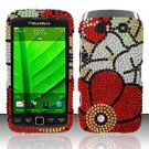 Hard Rhinestone Design Case for Blackberry Torch 9850/9860 - Fall Flowers