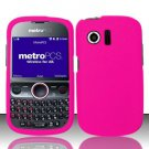 Hard Rubber Feel Plastic Case for Huawei Pillar/Pinnacle - Pink