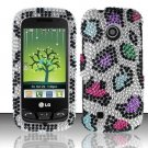 Hard Rhinestone Design Case for LG Cosmos Touch VN270 (Verizon) - Colorful Leopard