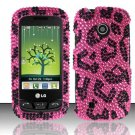 Hard Rhinestone Design Case for LG Beacon/Attune (MetroPCS/U.S. Cellular) - Pink Leopard