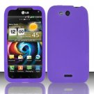 Soft Premium Silicone Case for LG Viper 4G LTE/Connect 4G (Sprint/MetroPCS) - Purple
