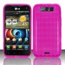 TPU Crystal Gel Case for LG Viper 4G LTE/Connect 4G (Sprint/MetroPCS) - Pink
