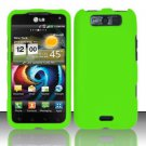 Hard Rubber Feel Plastic Case for LG Viper 4G LTE/Connect 4G (Sprint/MetroPCS) - Green