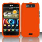 Hard Rubber Feel Plastic Case for LG Viper 4G LTE/Connect 4G (Sprint/MetroPCS) - Orange