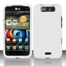 Hard Rubber Feel Plastic Case for LG Viper 4G LTE/Connect 4G (Sprint/MetroPCS) - White