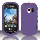 Hard Rubber Feel Plastic Case for LG Extrovert VN271 (Verizon) - Purple