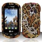 Hard Rhinestone Design Case for LG Extrovert VN271 (Verizon) - Cheetah