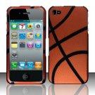 Hard Rubber Feel Design Case for Apple iPhone 4/4S - Basketball
