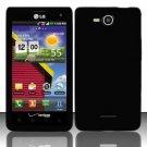 Soft Premium Silicone Case for LG Lucid VS840 (Verizon) - Black