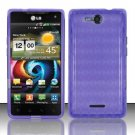 TPU Crystal Gel Case for LG Lucid VS840 (Verizon) - Purple