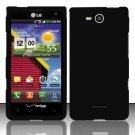 Hard Rubber Feel Plastic Case for LG Lucid VS840 (Verizon) - Black