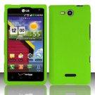 Hard Rubber Feel Plastic Case for LG Lucid VS840 (Verizon) - Green
