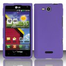 Hard Rubber Feel Plastic Case for LG Lucid VS840 (Verizon) - Purple