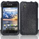 Hard Rhinestone Design Case for LG Marquee LS855/Optimus Black (Sprint/Boost) - Black