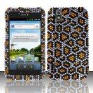 Hard Rhinestone Design Case for LG Marquee LS855/Optimus Black (Sprint/Boost) - Golden Leopard
