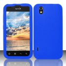 Soft Premium Silicone Case for LG Marquee LS855/Optimus Black (Sprint/Boost) - Blue