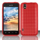 TPU Crystal Gel Case for LG Marquee LS855/Optimus Black (Sprint/Boost) - Red