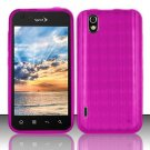 TPU Crystal Gel Case for LG Marquee LS855/Optimus Black (Sprint/Boost) - Pink