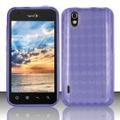TPU Crystal Gel Case for LG Marquee LS855/Optimus Black (Sprint/Boost) - Purple
