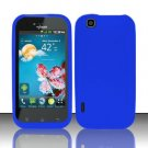 Soft Premium Silicone Case for LG myTouch LU9400 (T-Mobile) - Blue