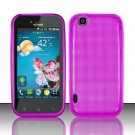 TPU Crystal Gel Case for LG myTouch LU9400 (T-Mobile) - Pink