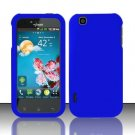 Hard Rubber Feel Plastic Case for LG myTouch LU9400 (T-Mobile) - Blue