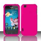 Hard Rubber Feel Plastic Case for LG myTouch LU9400 (T-Mobile) - Pink