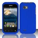 Hard Rubber Feel Plastic Case for LG myTouch Q C800 (T-Mobile) - Blue