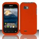 Hard Rubber Feel Plastic Case for LG myTouch Q C800 (T-Mobile) - Orange