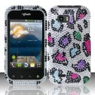 Hard Rhinestone Design Case for LG myTouch Q C800 (T-Mobile) - Colorful Leopard