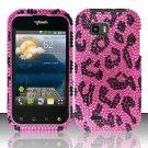 Hard Rhinestone Design Case for LG myTouch Q C800 (T-Mobile) - Pink Leopard