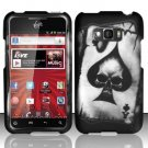 Hard Rubber Feel Design Case for LG Optimus Elite LS696 (Sprint) - Spade Skull