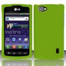 Hard Rubber Feel Plastic Case for LG Optimus M+ MS695 (MetroPCS) - Green