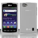 Hard Transparent Plastic Case for LG Optimus M+ MS695 (MetroPCS)