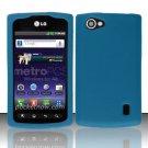 Soft Premium Silicone Case for LG Optimus M+ MS695 (MetroPCS) - Blue