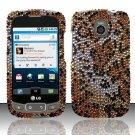 Hard Rhinestone Design Case for LG Optimus T/Phoenix/Thrive (T-Mobile/AT&T) - Cheetah