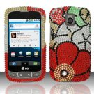 Hard Rhinestone Design Case for LG Optimus T/Phoenix/Thrive (T-Mobile/AT&T) - Fall Flowers