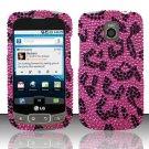 Hard Rhinestone Design Case for LG Optimus T/Phoenix/Thrive (T-Mobile/AT&T) - Pink Leopard