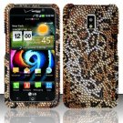 Hard Rhinestone Design Case for LG Spectrum/Revolution 2 VS920 - Cheetah