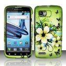Hard Rubber Feel Design Case for Motorola Atrix 2 MB865 (AT&T) - Hawaiian Flowers