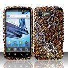Hard Rhinestone Design Case for Motorola Atrix 2 MB865 (AT&T) - Cheetah