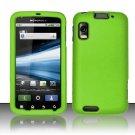 Hard Rubber Feel Plastic Case for Motorola Atrix 4G MB860 (AT&T) - Green