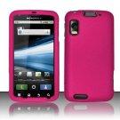 Hard Rubber Feel Plastic Case for Motorola Atrix 4G MB860 (AT&T) - Pink