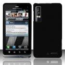 Hard Rubber Feel Plastic Case for Motorola Droid 3 (Verizon) - Black