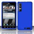 Hard Rubber Feel Plastic Case for Motorola Droid 3 (Verizon) - Blue