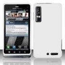 Hard Rubber Feel Plastic Case for Motorola Droid 3 (Verizon) - White