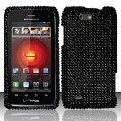Hard Rhinestone Design Case for Motorola Droid 4 XT894 (Verizon) - Black