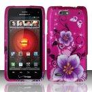 Hard Rubber Feel Design Case for Motorola Droid 4 XT894 (Verizon) - Hibiscus Flowers