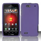 Hard Rubber Feel Plastic Case For Motorola Droid 4 XT894 (Verizon) - Purple